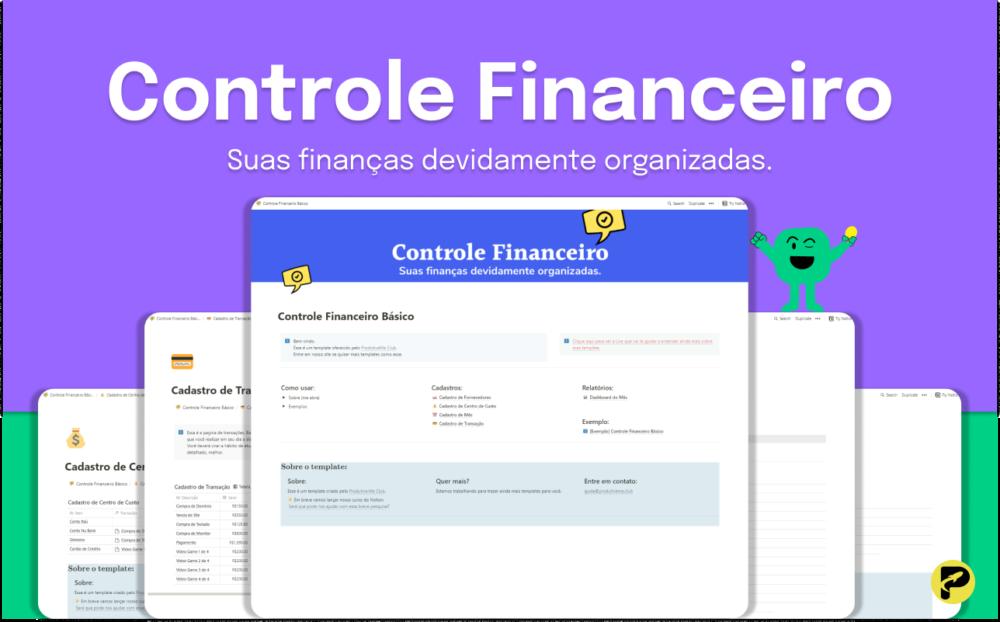 Controle Financeiro - ProdutiveMe Club - Notion Template