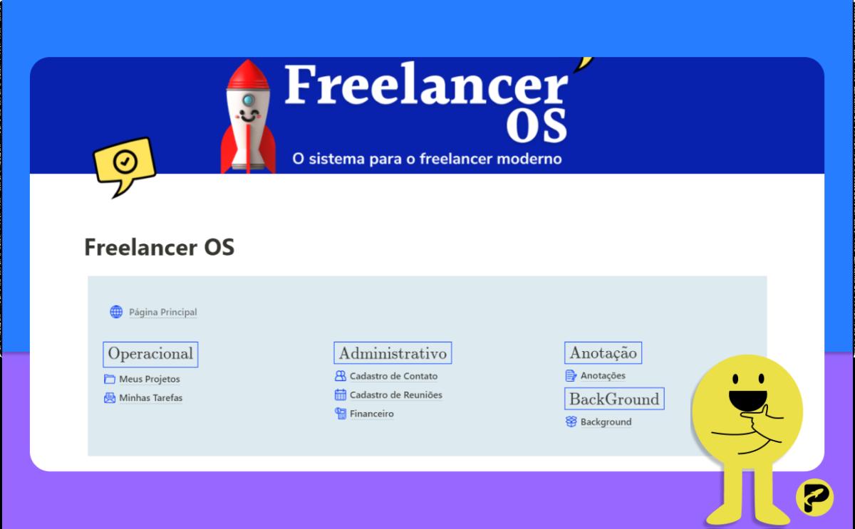 Freelancer OS - Notion Template - ProdutiveMe Club